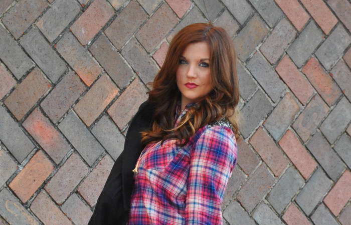 Plaid + Leather = Glam
