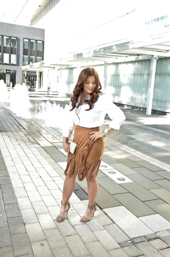 Fall Fringe Skirt- Styled and Taylored