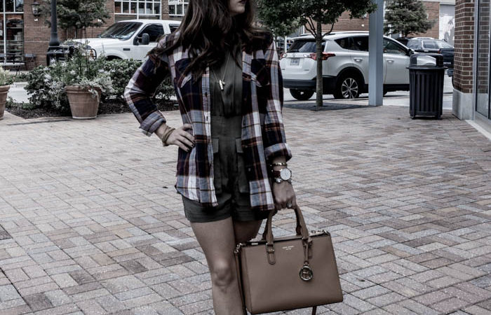 The Transitional Olive Romper