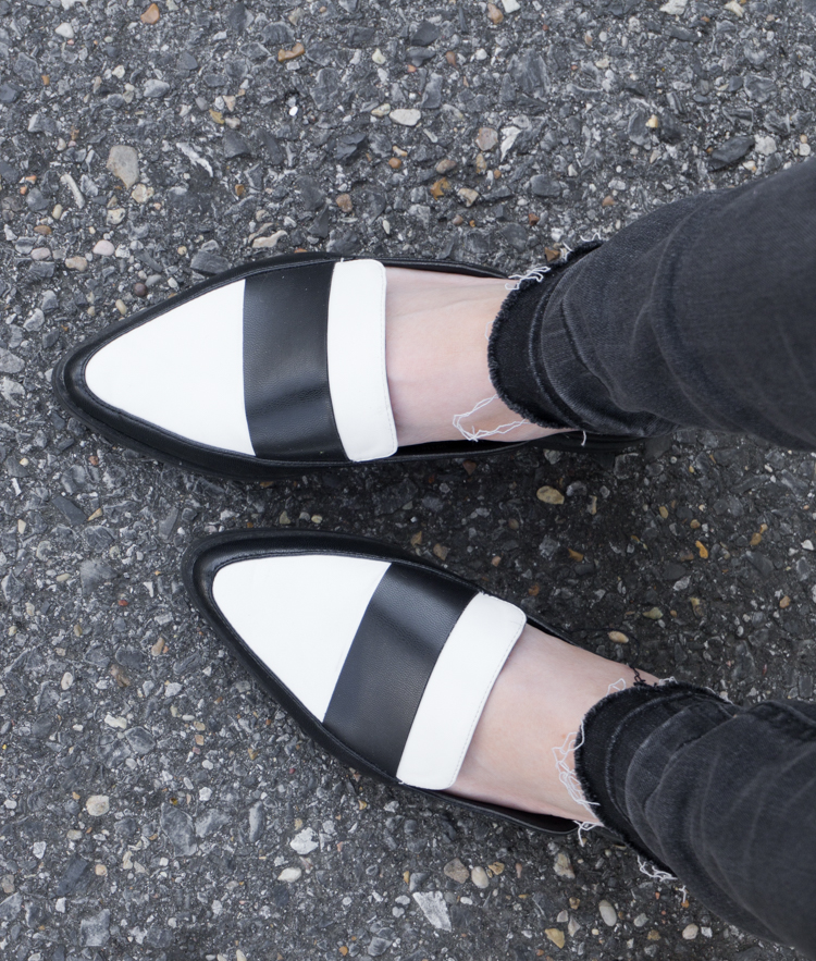 black and white loafers, spring shoes, spring look