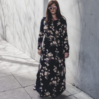 Black Floral Maxi and a Home Update