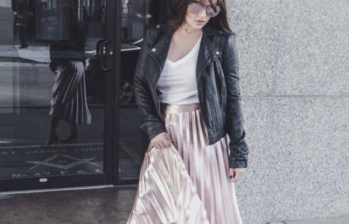Styling a Metallic Midi for Spring
